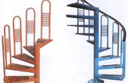 Escalera de caracol con peldaños METALICOS