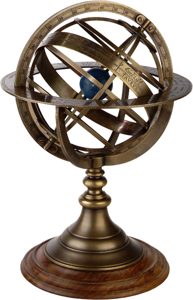 Armillary Sphere Antique Globe By Authentic Models