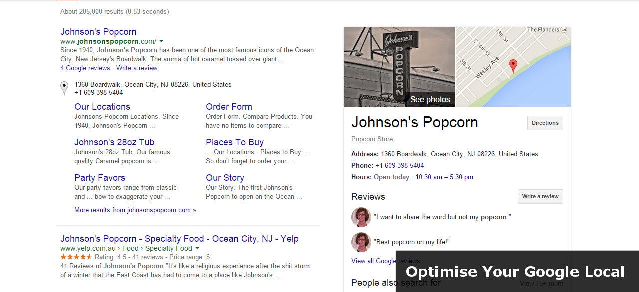Google Business Places Optimization