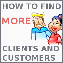 find more clients and customers online