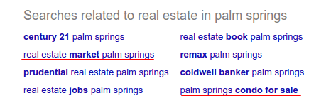 real estate position in Google Search results