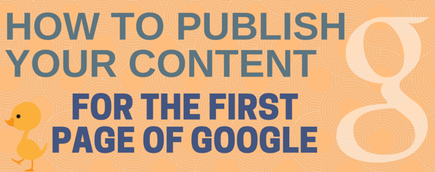 How to Publish Content that Ranks in Search Engines