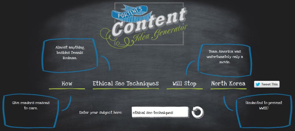 content-idea-generator-portent