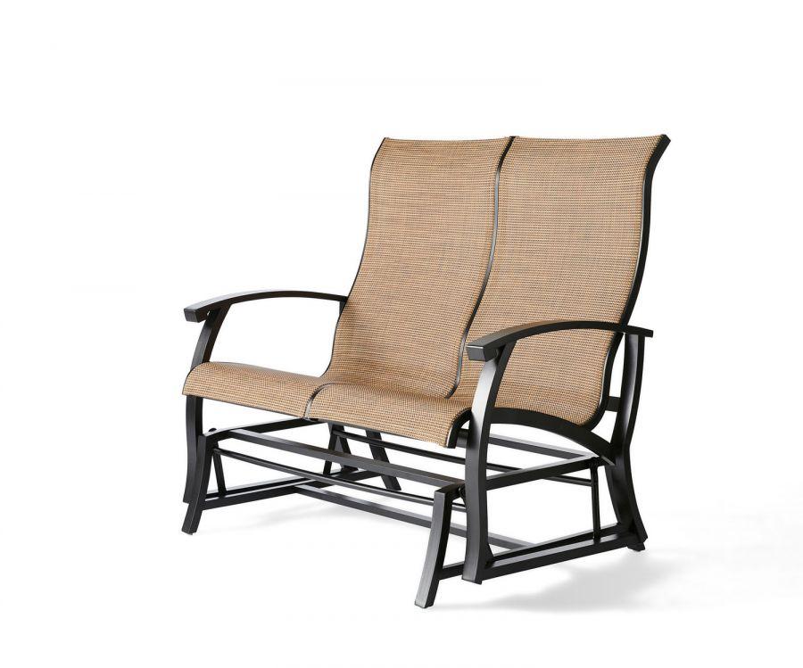 georgetown sling love seat glider