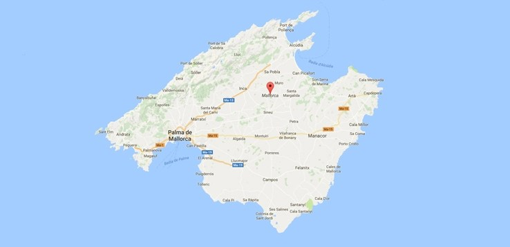 ᐅ mallorca karte map strande