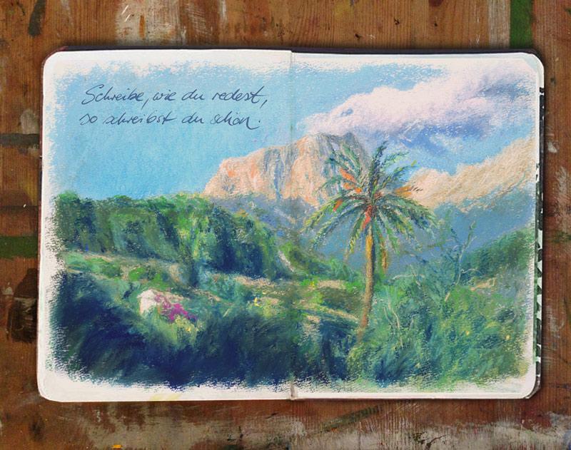 kreativ workshop reisetagebuch
