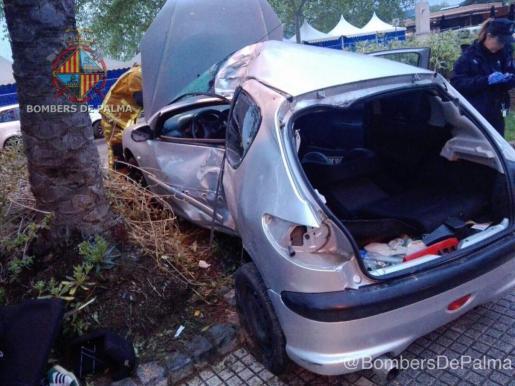 Schwerer Verkehrsunfall auf dem Passeig Marítim
