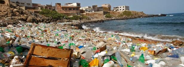 Angespülter Plastikmüll an den Stränden
