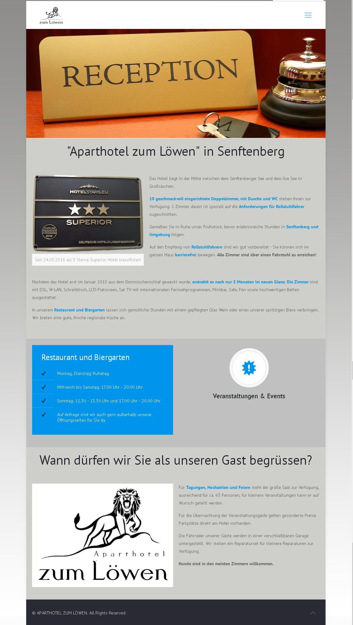 Aparthotel zum Löwen Entwicklung der CI, Grafik & Layout für Online & Printwerbung www.aparthotel-zum-loewen.com