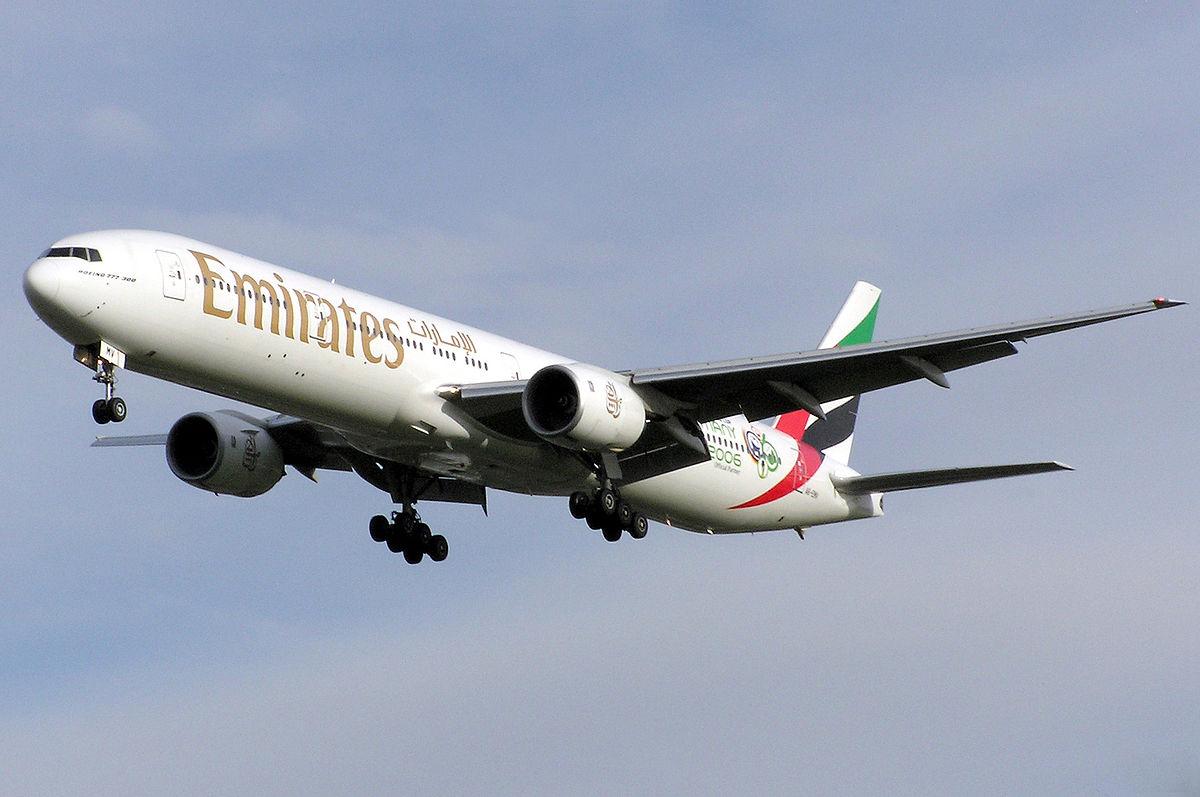 Boeing 777 der Airline Emirates