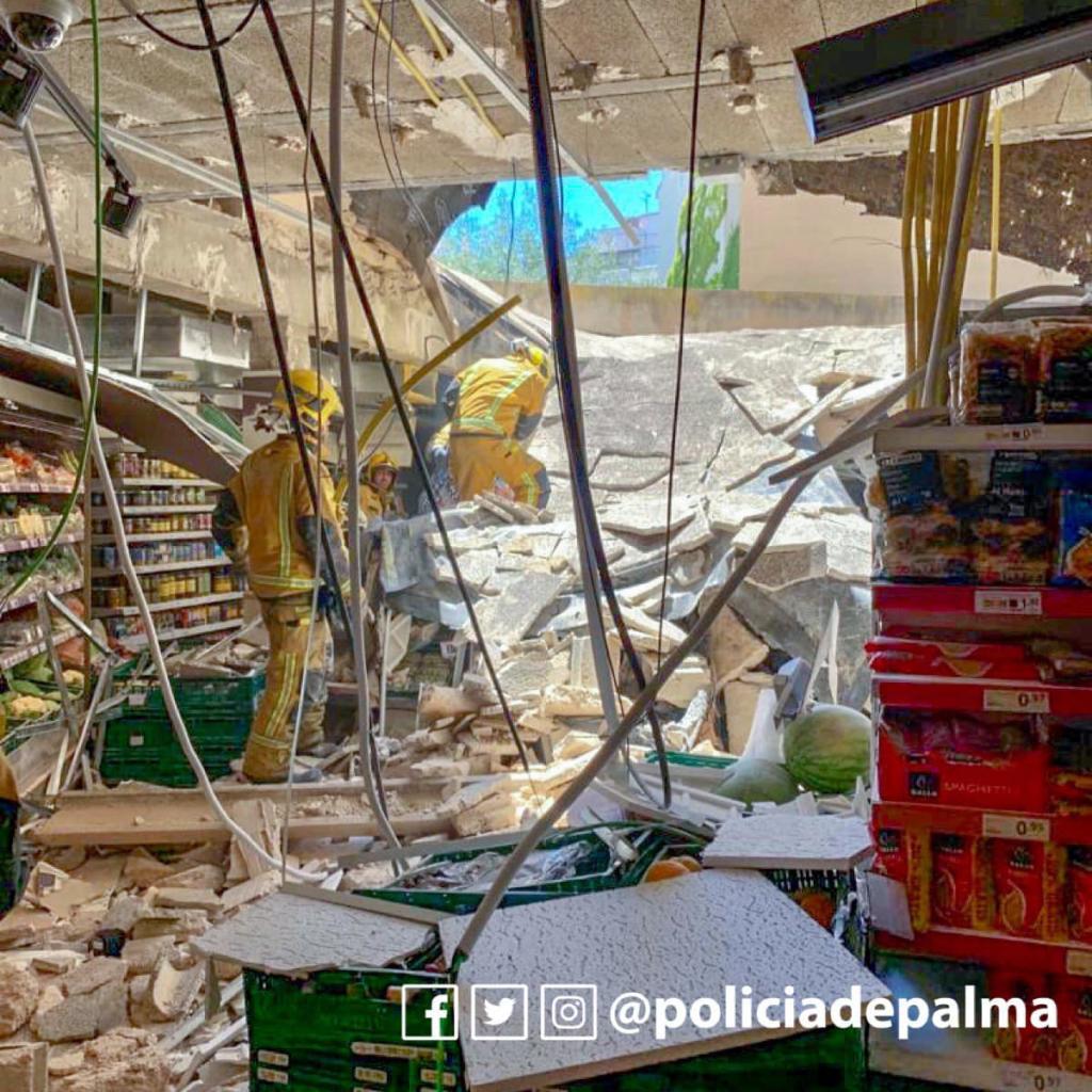 6 Verletzte bei Einsturz eines Eroski-Markt