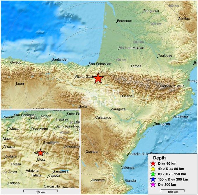 Erdbeben der Stärke 3,6 in Navarra