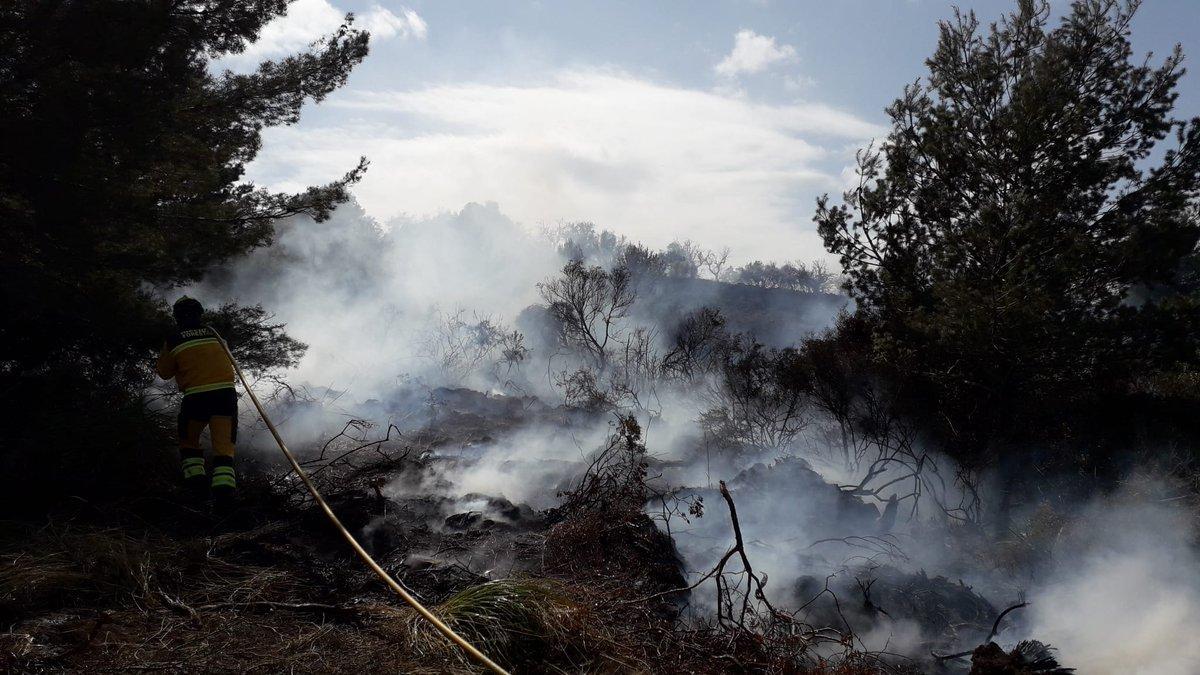 Waldbrand in Sant Llorenç