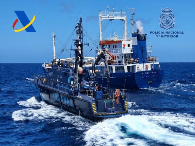 20 Tonnen Haschisch beladenes Schiff in den Gewässern vor den Kanarischen Inseln abgefangen