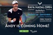 Andy Murray spielt bei der Rafa Nadal Open