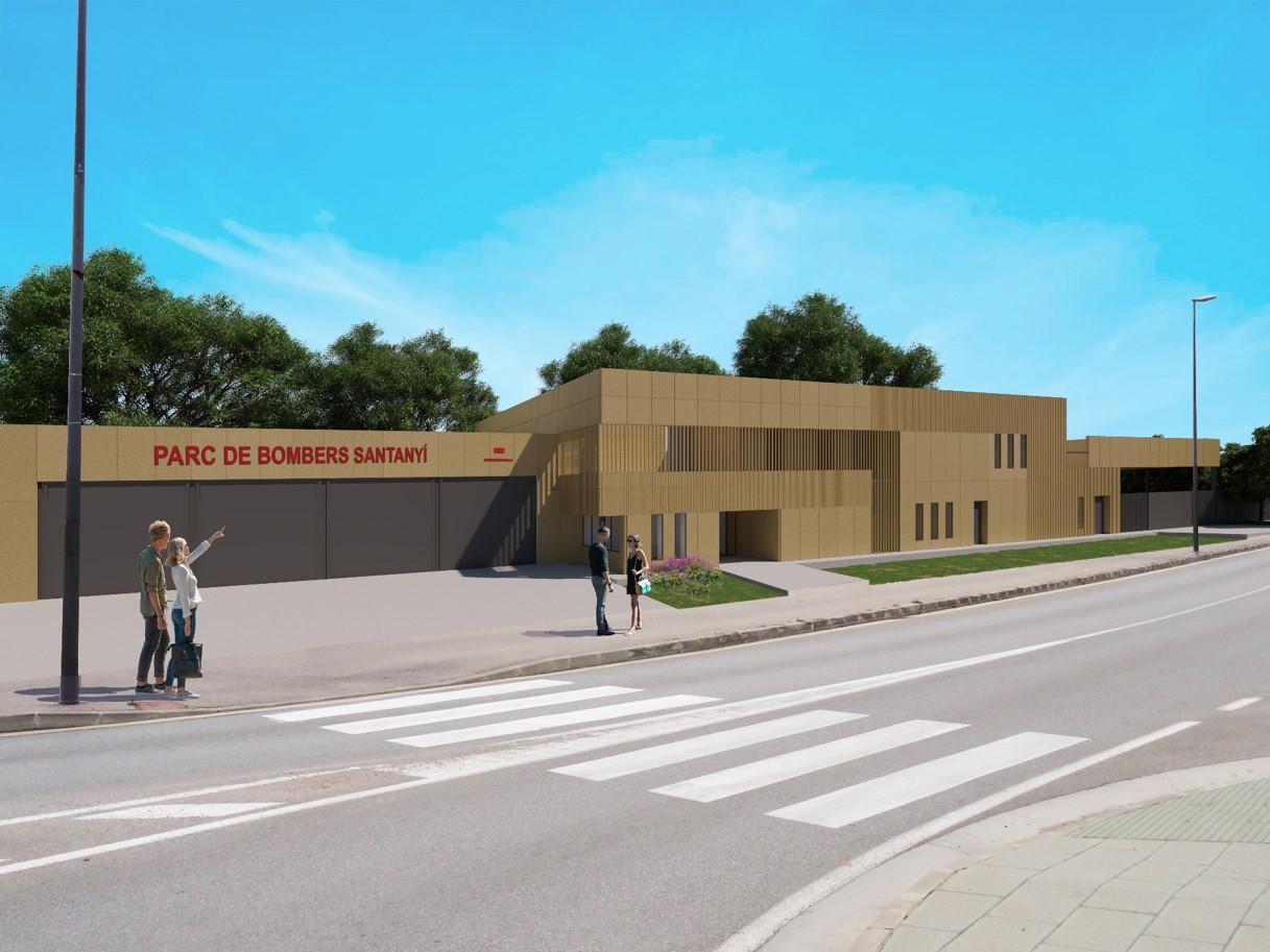 Neubau der Feuerwache von Santanyí