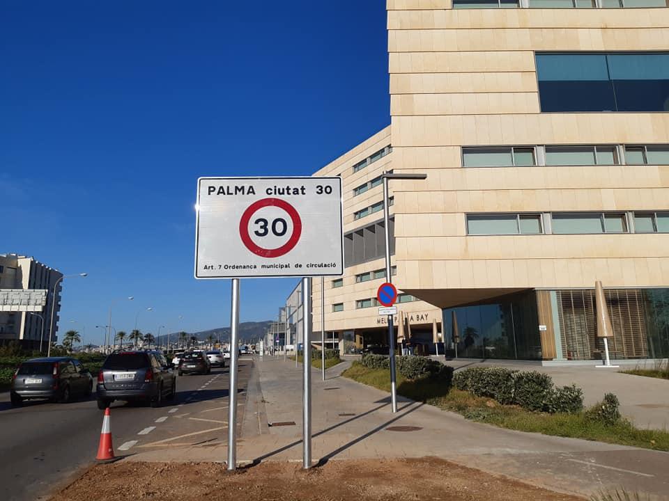 Höchstgeschwindigkeit 30 in Palma