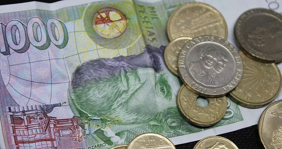 Spanische Währung Pesetas