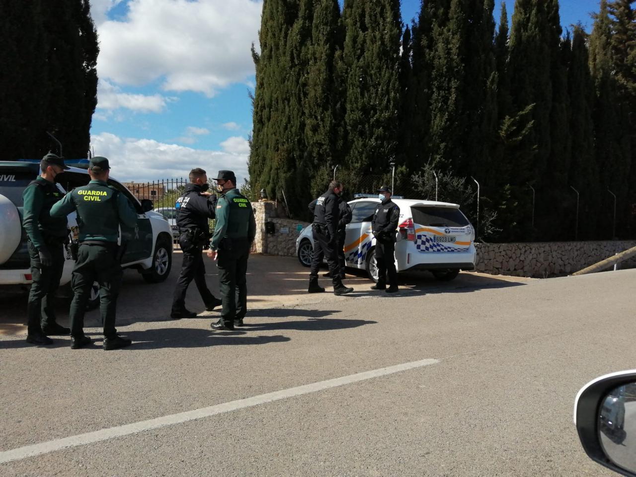 Einsatz der Policía Local de Alcúdia