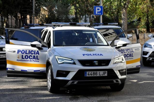 Polizeiautos der Policia Local Palma