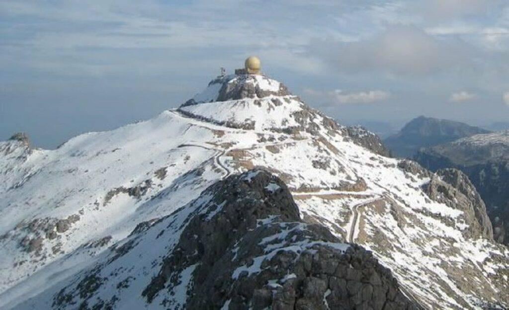 Schnee auf dem Puig Major