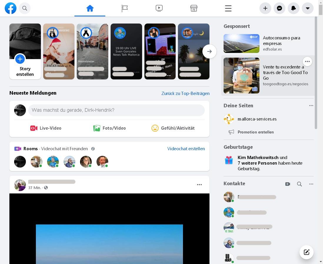 Neues Facebook-Design: Weiß, groß und unstrukturiert
