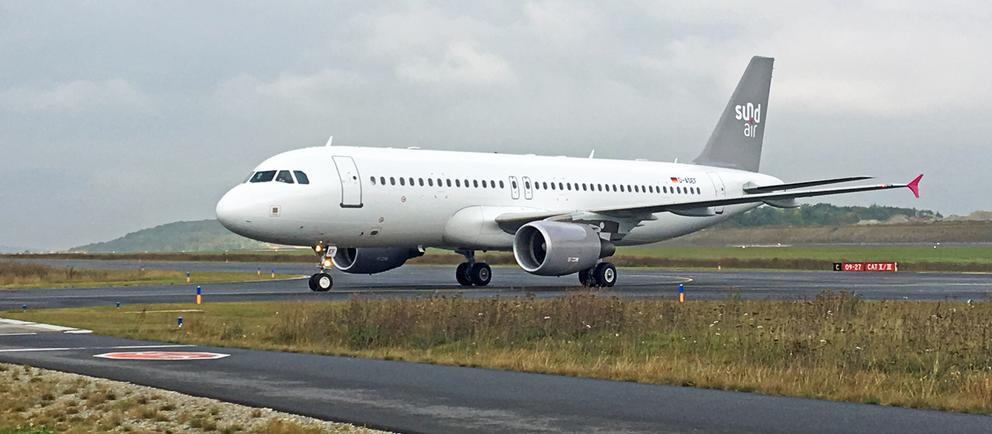 Flugzeug der Fluggesellschaft Sundair