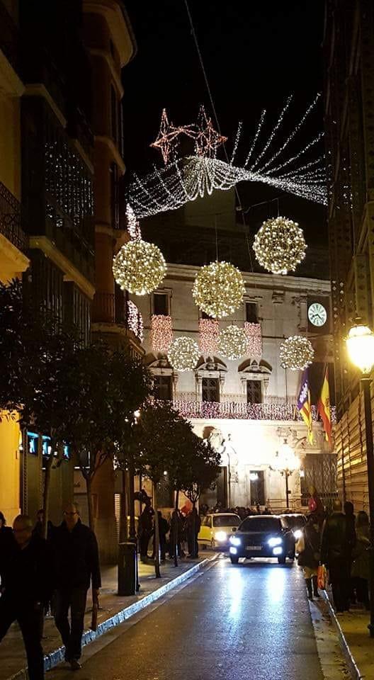 Weihnachtsbeleuchtung auf Mallorca