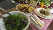 Herzhafter Gratin mit Auberginen & Zucchini