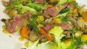 Pfälzer Kalbszunge und Kalbsbries auf winterlichem Salat