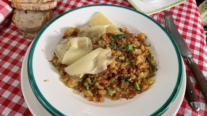 Maluns – Knusprige Kartoffelflocken mit Speck