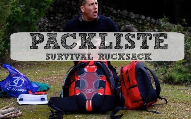 Packliste Survival Rucksack