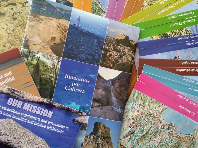 Prospekte über die Insel Cabrera