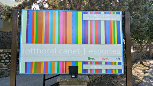 Lofthotel Canet Schild