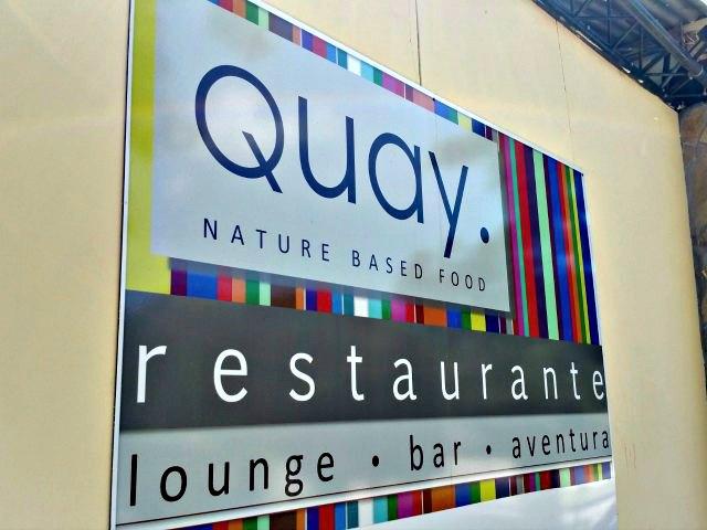Das Schild vom Restaurant Quay in Esporles