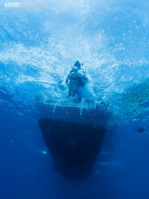 Tauchen mit Go-Dive-Koh-Lanta-Sprung-ins-kalte-Wasser