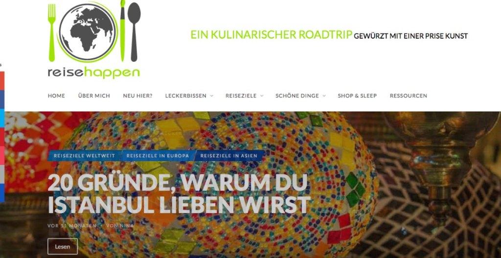 Liebster Award Reisehappen Screenshot