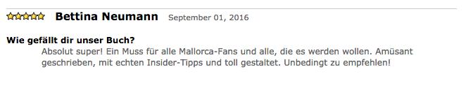 """Amazonbewertung für unser Buch """"Mallorca mit uns"""""""