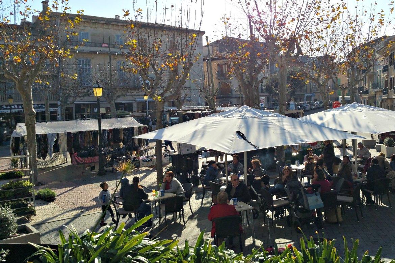 Markt in Santa Margalida - gemütlich sitzen