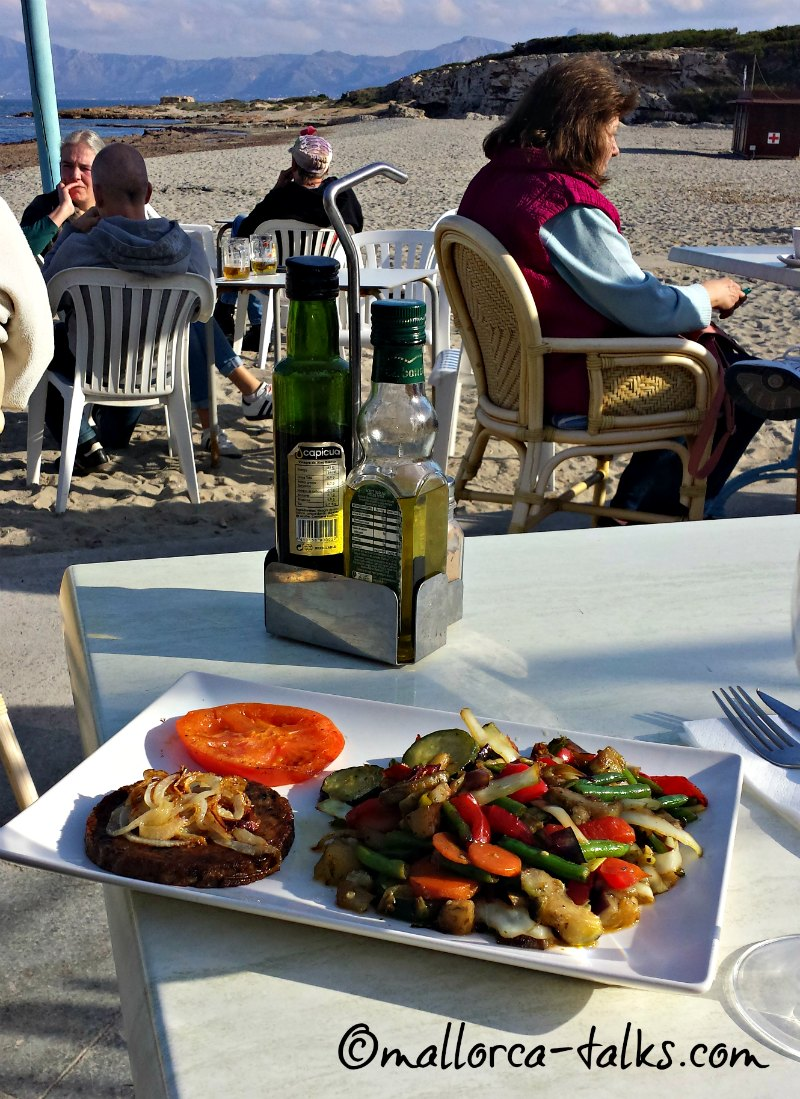 veganes Essen im Bananas Playa Son Baulo in Can Picafort