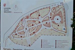 Karte vom Marivent Garten