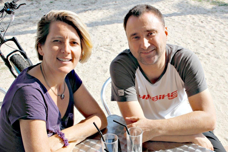 Oliver Wienrich und Barbara von Mallorca Talks im E-Bike Interview