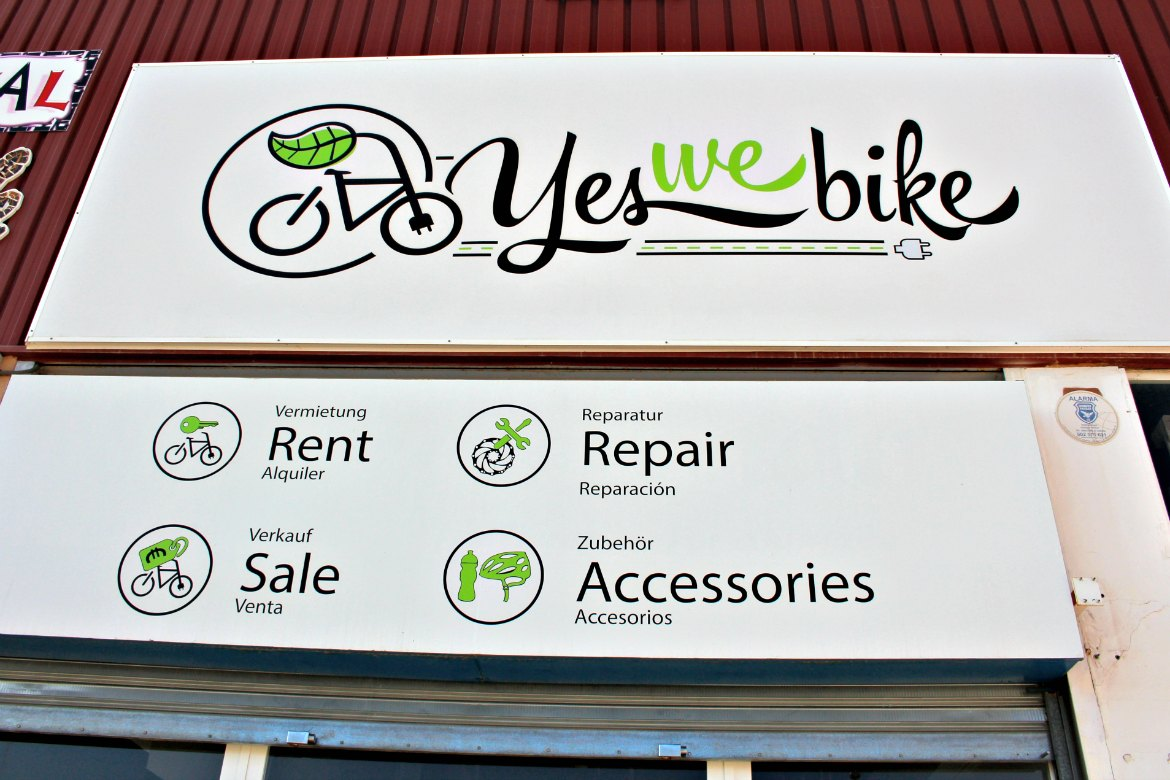 Yes we Bike Shop im Gewerbegebiet Santa Ponsa