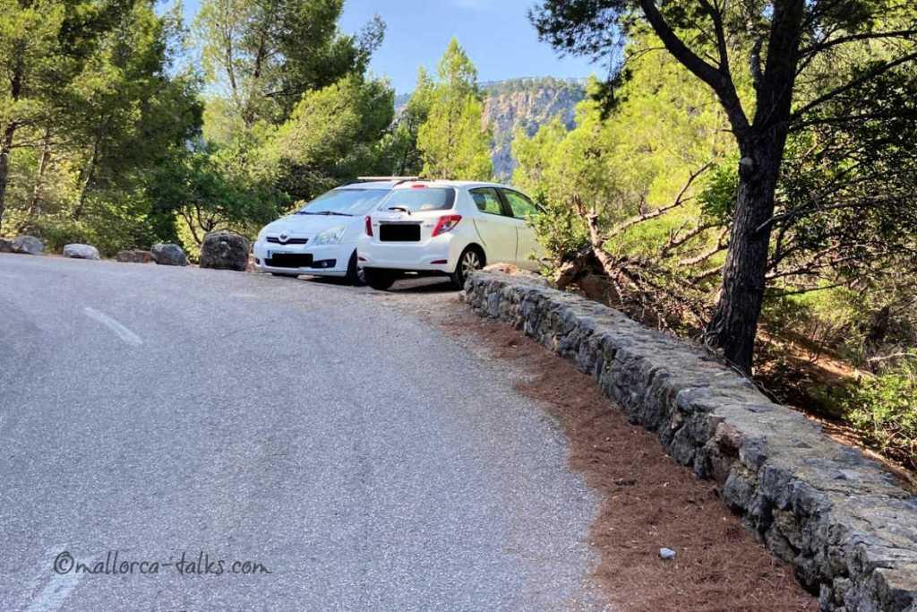 Parkplätze Sommerwanderung nach S' Estaca
