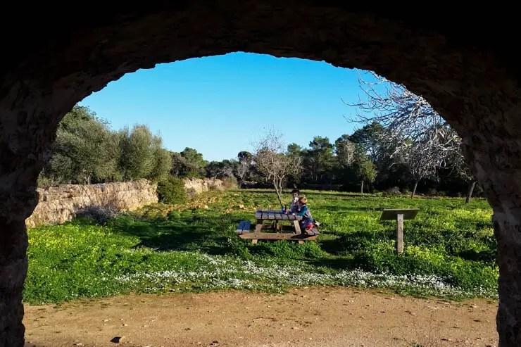 Picknick im Naturpark Mondrago