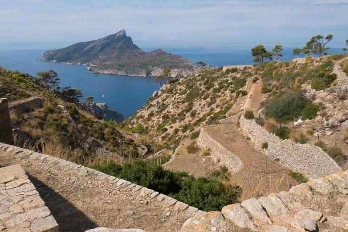 Zeltplatz La Trapa bei Andratx im Westen von Mallorca.