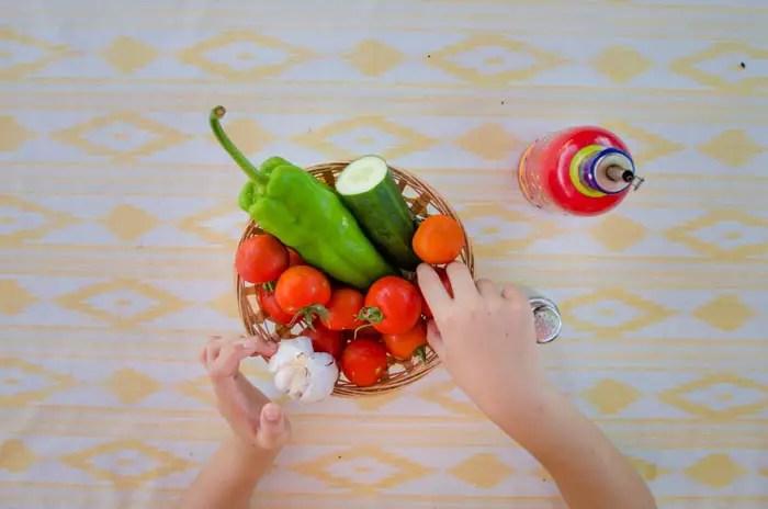Rezept: Spanische Tomatensuppe, Gazpacho