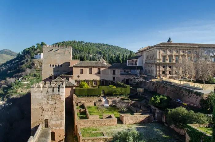 Alhambra. Granada. Andalusien.