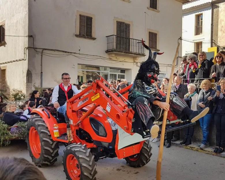 Umzug zu Sant Antoni in Artà