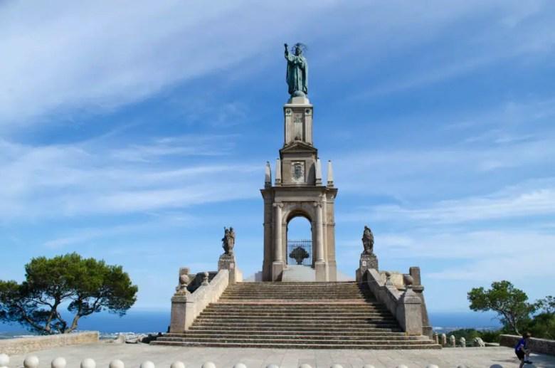 Christdenkmal am Santuari de Sant Salvador
